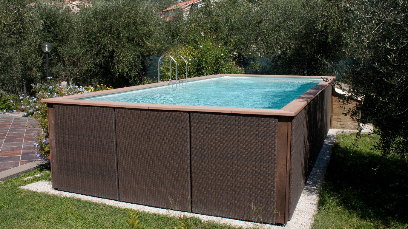 Aufstellpool holz swalif for Dekorfolie pool